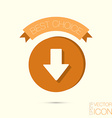 web arrow vector image vector image
