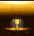 Winner Cup With Spark Rain vector image vector image