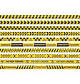 yellow black checkered diagonal danger caution vector image