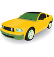 yellow car vector image vector image