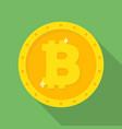 gold bitcoin coin icon vector image