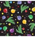 Christmas decorations balls seamless pattern vector image