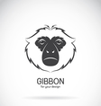 Image of a gibbon head design vector image
