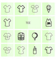 14 tee icons vector image vector image