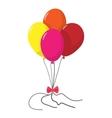 4 balloons cartoon icon vector image vector image