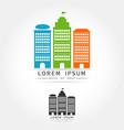abstract city logo icon vector image vector image