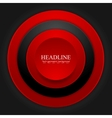 Abstract corporate red black circles design vector image vector image