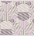 abstract geometry repeatable motif in violet vector image vector image