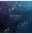 Abstract polygonal backgroun Low poly design with vector image vector image