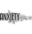 anxiety medicine text word cloud concept vector image vector image