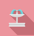 architecture drinking fountain icon flat style vector image vector image