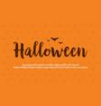background card halloween celebration design vector image vector image