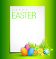 beautiful easter design vector image vector image