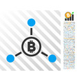 bitcoin connections flat icon with bonus vector image vector image