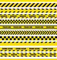 black and yellow stripes barricade tape do not vector image