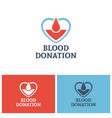 blood donation logo design concept vector image vector image