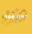 booking banner background design concept vector image vector image