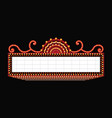 brightly theater glowing retro cinema neon sign vector image vector image