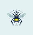 bumblebee vintage label vector image vector image