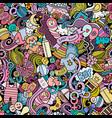 cartoon cute doodles hand drawn baseamless vector image vector image