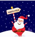 christmas santa on north pole vector image vector image