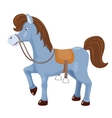 Cute horse with saddle vector image