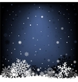 dark blue snow mesh background vector image vector image
