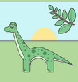 dinosaurus cartoon style art for kids vector image