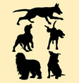 dog pet animal silhouette vector image vector image