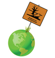 earth sign environment vector image vector image