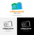 ebook logo vector image