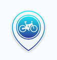 electric bike icon on map pointer vector image vector image