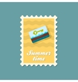 Electronic keycard stamp Summer Vacation vector image vector image