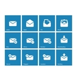 Envelope icons on blue background vector image