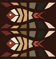 fish mosaic seamless pattern vector image vector image