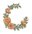 Floral handdrawn wreath vector image vector image