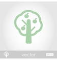 Fruit tree icon vector image