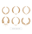 Gold Laurel Wreaths Collection vector image vector image