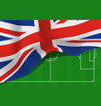 great britain united kingdom flag vector image vector image