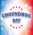 Groundhog Day card on celebration background vector image vector image