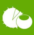 hazelnuts icon green vector image vector image