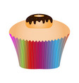 isolated cupcake vector image