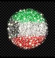 kuwait flag sparkling badge vector image vector image