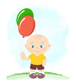 Little boy with toy balloons vector image