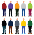 man set in colorful vector image vector image