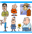 men characters set cartoon vector image vector image