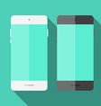 Mobile phone in flat style vector image vector image