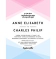 Modern Wedding Invitation vector image vector image