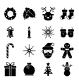 New Year Symbols Christmas Accessories Icons vector image vector image