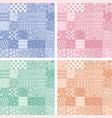 patchwork handicraft fabric background vector image